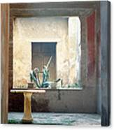 Pompeii Courtyard Canvas Print