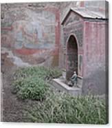 Pompeii Dry Fountain Canvas Print