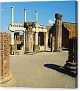 Pompeii In Ruins Canvas Print