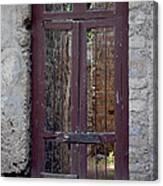 Pompeii Old Door Canvas Print