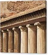 Pompeii Pillars Canvas Print