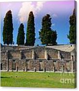 Pompeii Walls And Trees Canvas Print
