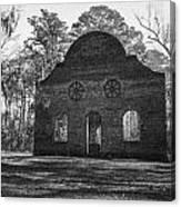 Pon Pon Chapel Of Ease 2 Bw Canvas Print