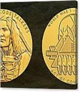 Ponca Tribe Code Talkers Bronze Medal Art Canvas Print