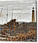 Ponce Inlet Lighthouse From The Dunes Canvas Print