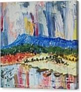 Pond By Massanutten Peak - Sold Canvas Print