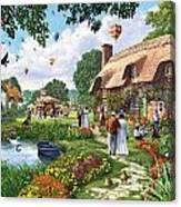Pond Cottage Canvas Print