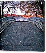 Pond Footbridge Canvas Print