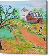 Pond Hill Road Canvas Print
