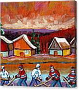 Pond Hockey Game 2 Canvas Print