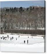 Pond Hockey Muskoka Canvas Print