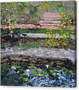 Pond In The English Walled Gardens Canvas Print