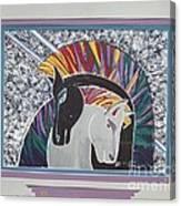 Ponies In Love Canvas Print