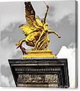Pont Alexander IIi Fragment In Paris Canvas Print