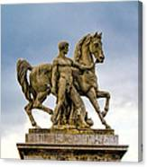 Pont D' Lena Bridge Statue  Canvas Print