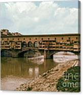 Pont De Vecchio On The Arno Canvas Print