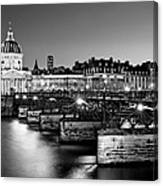 Pont Des Arts And Institut De France / Paris Canvas Print