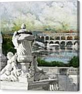 Pont Du Gard Roman Aqueduct Canvas Print