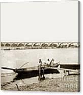 pont George V Bridge over Loire river Orleans Loire Valley France 1900 Canvas Print