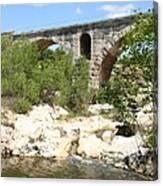 Pont St. Julien And River Canvas Print