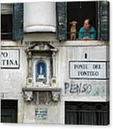 Ponte Del Fontego.venice Canvas Print