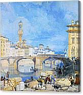Ponte Santa Trinitia Florence Canvas Print