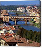 Ponte Vecchio And Arno River Canvas Print