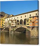 Ponte Vecchio Bridge In Florence Canvas Print
