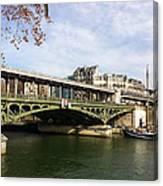 ponte verde a Parigi Canvas Print