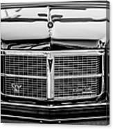 Pontiac Grand Ville Grille -0332bw Canvas Print