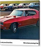 Pontiac Gto - 1964 1965 1966 1967 1968 Canvas Print