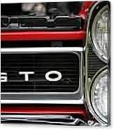 Pontiac Gto Front Canvas Print