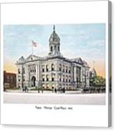 Pontiac Michigan - Ponitiac Court House - 1910 Canvas Print