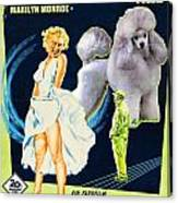 Poodle Art - The Seven Year Itch Movie Poster Canvas Print