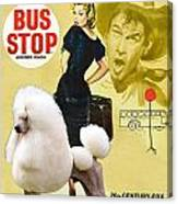 Poodle Standard Art - Bus Stop Movie Poster Canvas Print