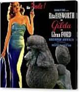 Poodle Standard Art - Gilda Movie Poster Canvas Print