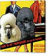 Poodle Standard Art - Love Is My Profession Movie Poster Canvas Print