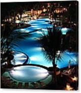 Pool At Night Canvas Print