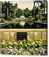Pool At Nixon Library  Canvas Print