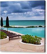 Pool At Rosewood Mayakoba Canvas Print