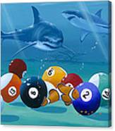 Pool Sharks Canvas Print