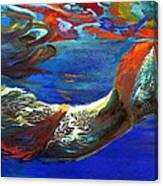 Pool Swimmer Canvas Print