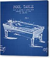 Pool Table Patent From 1901 - Blueprint Canvas Print