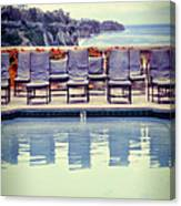 Pool With Views Of The Ocean Canvas Print