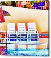 Poolside Canvas Print