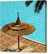 Poolside Relaxation Canvas Print