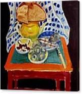 Poor Artist's Supper Canvas Print