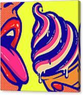 Pop Art Comic Book Mouth Of Woman Canvas Print