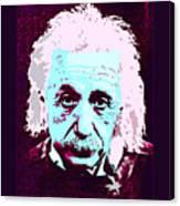 Pop Art Einstein No 3 Canvas Print