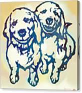 Pop Art Etching Poster - Dog - 10 Canvas Print